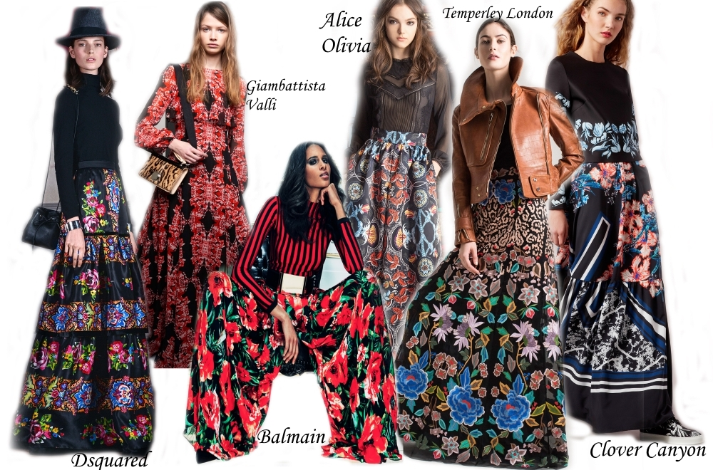 Models vogue in Puffed Maxi Skirts and Plazzo Pants